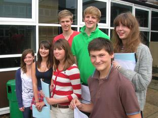 Big smiles from GCSE high fliers at Lady Lumley's, from left to right, back row: Tom Norrington, Liam Hartas and Harriet Morley; front row: Emma Shepherd, Rachel Garnett, Kate O'Callaghan and Ben Lumley