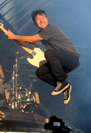 Blink 182 at Leeds Festival.