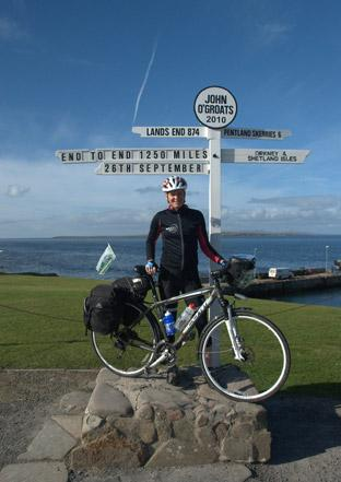 Kathryn Lazenby reaches John O'Groats on her cycle ride