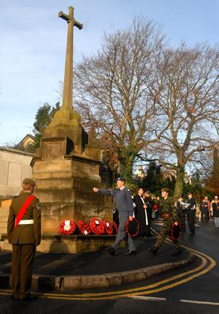 Remembrance Sunday in Malton.