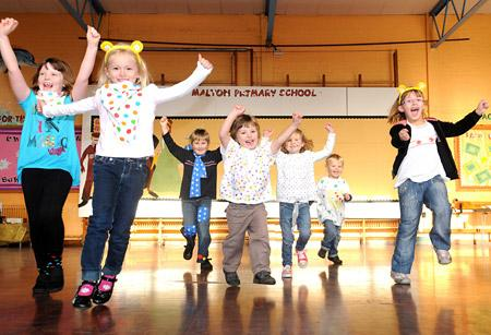Children in Need at Malton primary school