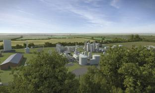 Artists impression of the now scrapped gas processing plant plan