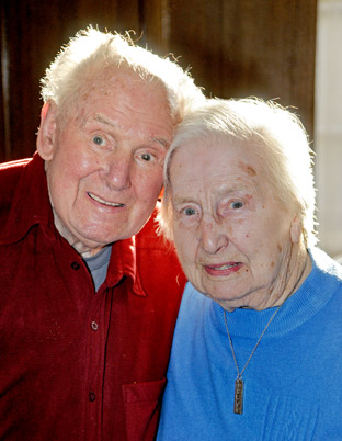 George and Peggy Milne who have celebrated their 71st wedding aniversary