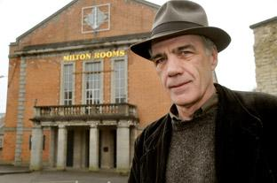 Artistic director Gary Cooper outside the Milton Rooms which is poised for a major renovation
