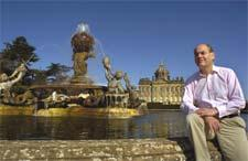Simon Howard, pictured at Castle Howard, has won a High Court ruling that the Sir Joshua Reynolds painting, Omai, should be exempted from capital gains tax. The picture was sold to fund the divorce of Simon Howard from his wife, Annette