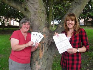 Maggie Farey and Sarah Lally-Marley promote the Ryedale Rural Awards in the last few days before nominations close
