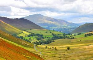 Derwent Fells as you descend from the summit of Newlands Pass