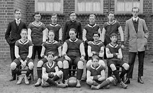 Malton Grammar School's football team from the 1912-13 season