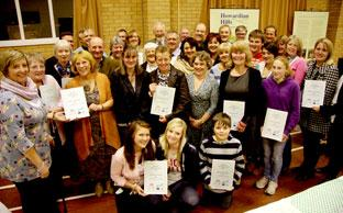 Award-winners and sponsors at the Ryedale Rural Community Awards ceremony