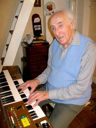 Ernest Stear, of Silpho, who has retired after 74 years of playing the organ across Britain.
