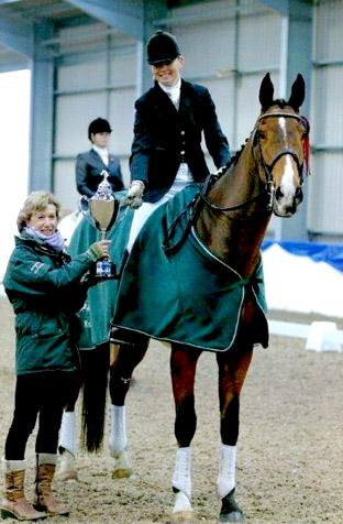Charlotte Wilson and Elverys take home the silverware at Vale View Equestrian Centre