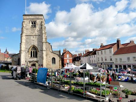 The saturday market in Malton by Nick Fletcher.