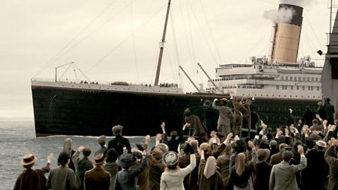 A scene from the forthcoming ITV1 drama Titanic