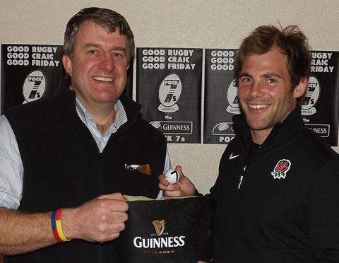 Pock 7s organiser Adrian Styche (left) makes the draw with Rob Vickerman