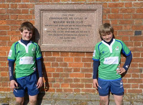 DOUBLE JOY: Schoolboys Leo Highham and André Robson, who have been picked for the  Barbarians