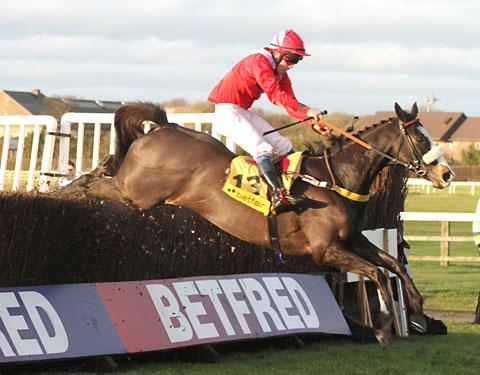 According To Pete, ridden by Harry Haynes, pictured winning at Wetherby
