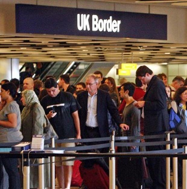 The Border Force failed to meet targets for getting non-EU passport holders through immigration at Heathrow last month