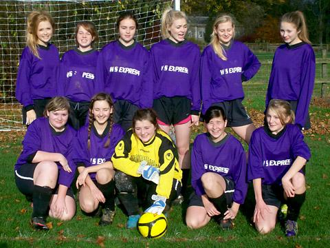 Thornton-le-Dale U15 girls. Back row, from left: Megan Scott, Charlotte Scarth, Lucy Ibbotson, Alex Myers, Sophie Nicholson, Holly Frith. Front row, from left: Jess Harrison, Jess Vociu, Jamie-Lee Dixon, Chloe Teasdale, Rosie Grewer