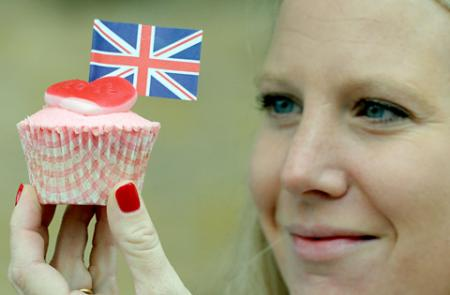 Alice Naylor-Leyland with one of her cupcakes which were sold to raise money for Ryedale Special Families.