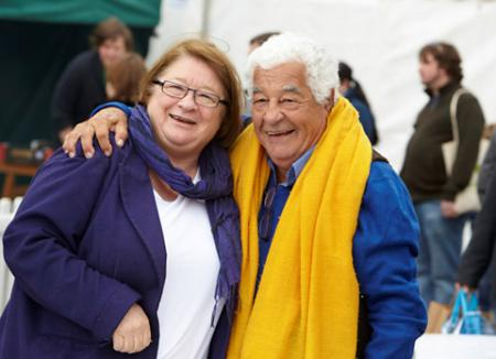 TV chefs Rosemary Shrager and Antonio Carluccio.