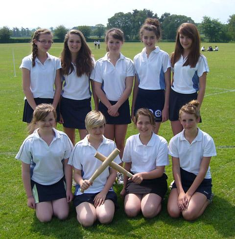 Ryedale School's Year 8 rounders team