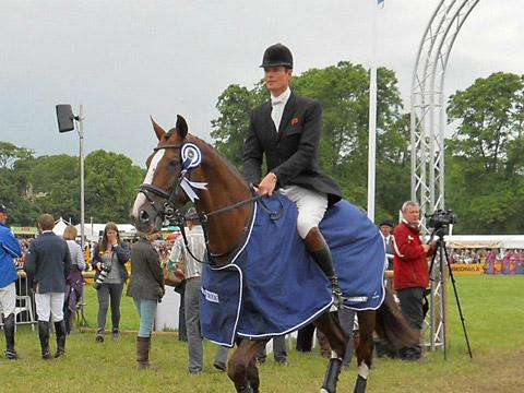 William Fox-Pitt leaves the arena after clinching his sixth Bramham title on board Chilli Morning