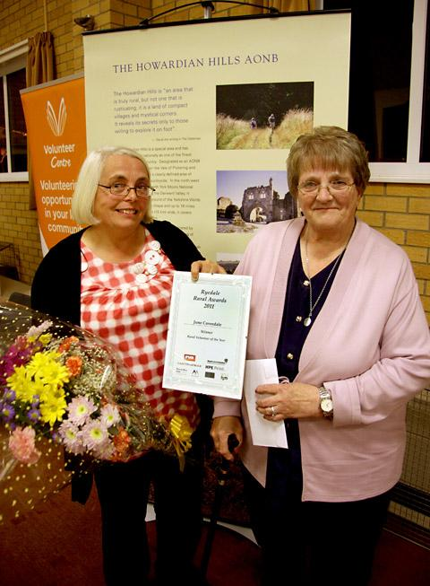 Rural Volunteer of the Year winner June Coverdale with friend Julie Price