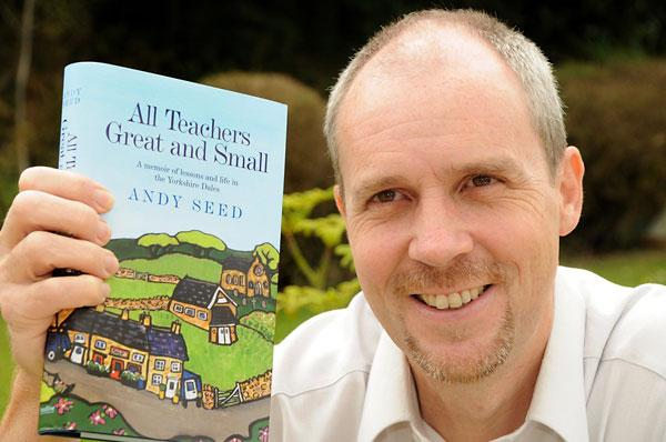 Author Andy Seed, pictured at the launch of his first book, has just had his second book, All Teachers Wise And Wonderful, published.