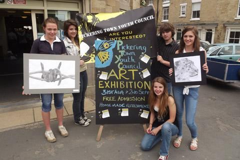 Members of Pickering Youth Council promote their exhibition