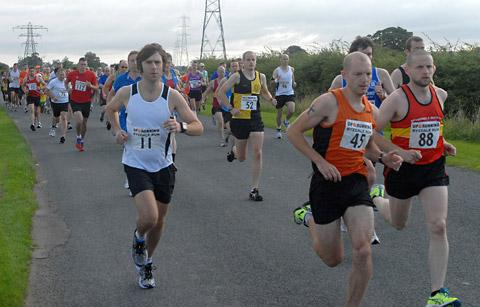 Competitors set off from Eden Camp on the annual Ryedale 10-mile run which raises funds for Malton Hospital