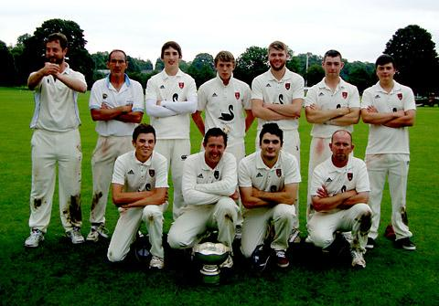 Duncombe Park, Readman Trophy winners 2012. Back row, from left to right: Paul Wilkie, Pete Humpleby, Jacob Michie, Connor Campbell, Ali Holmes, Jack Cranage, Jonny Leckenby. Front row, from left: Fergus Ward, Brian Leckenby, Jonny Birbeck, Peter Kent