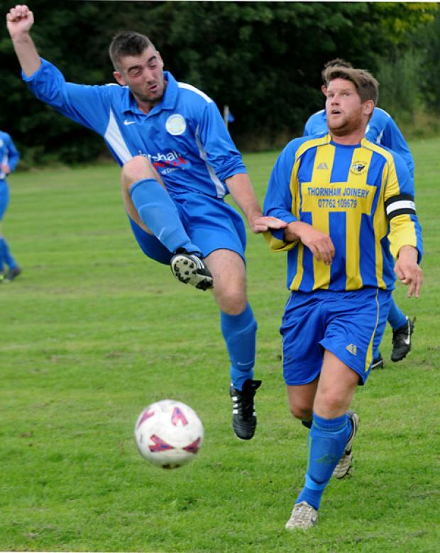 Old Malton St Mary's Danny Hall in action against Hamilton Panthers