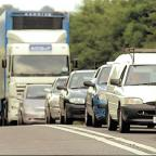 Gazette & Herald: Traffic queues on the A64 near Malton which Coun Janet Sanderson would like to see upgraded