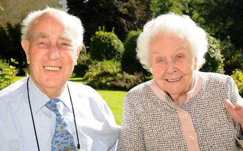 Allan and Agnes Gray enjoy their 70th  wedding anniversary, at The Hall Nursing Home, Thornton-le-Dale