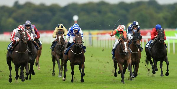 Sole Power, far left, notches victory