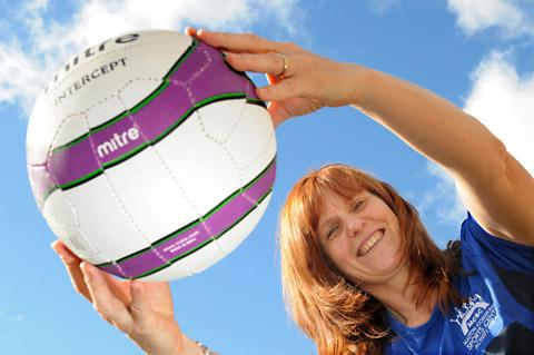 Alison Hyde, fitness instructor at Malton Community Sports Centre, prepares for the new netball classes