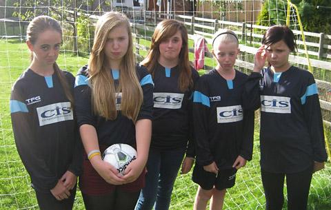 Brooklyn Under 13 Girls football team members Emily Kellett, Sophie Render, Leah Burley, Bethany Corner and Tanishia Flynn who face an uncertain future unless they get more team-mates