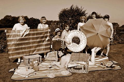 A summer scene from the Ladies at Leisure calendar