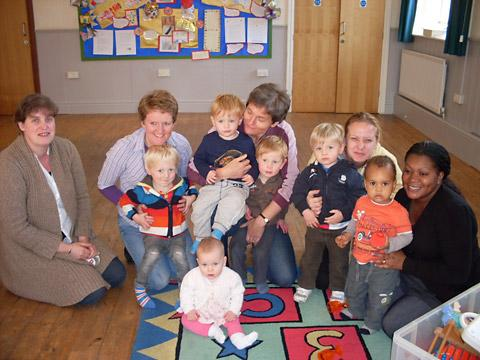 Ampleforth Pre-School Group, who are looking forward to a Christmas shopping evening at the village hall on Friday