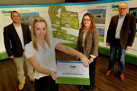 At the launch of Ryedale Exhibition and Leisure Village, from the left, Jason Bruton, MD, Dawn Bruton and Sarah King, events  management team, and Nick King, director