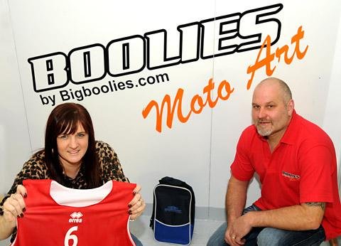 Gemma and Nick Mills of Big Boolies t-shirt Design in Malton