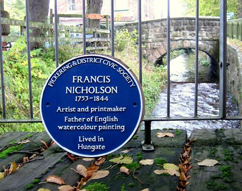 The Blue Plaque for artist Francis Nicholson