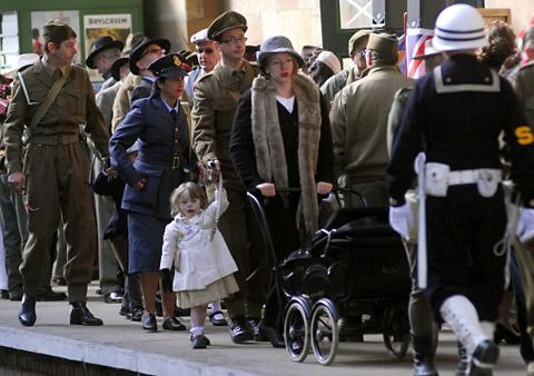 Many re-enactors were unhappy they had to pay to get on Pickering Station, said retired Royal Navy lieutenant Ian Meadows