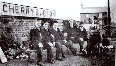 Cherry Burton station staff during the early 20th century