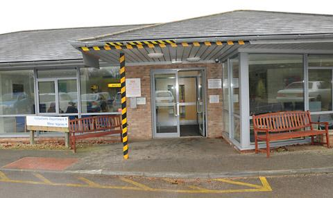 The minor injuries unit at Malton Hospital where opening hours are being cut