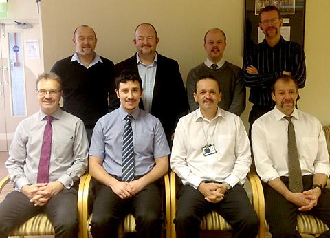 Officers at sRyedale District Council, who took part in a Movember challenge. Back row, from left to right: Peter Johnson, Julian Rudd, Jonathan Watson, Howard Wallis. Front row: Gary Housden, Alan McCarten, Paul Cresswell and Phil Long