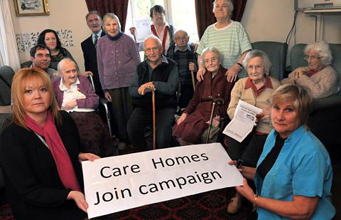 Wendy Marcci, right, owner of Spring Cottage residential home, with campaign organiser Lindsay Burr