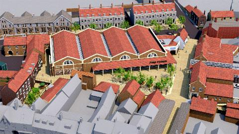 An artist's impression of the proposed redevelopment of the Malton livestock market