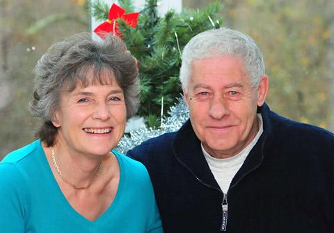 Eileen and Keith Jones who have celebrated their golden wedding anniversary