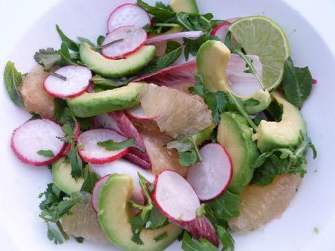Gazette & Herald: Pink grapefruit, avocado and pomegranate salad